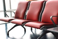 Free The Red Leather Steel Chair Stock Images - 4905074