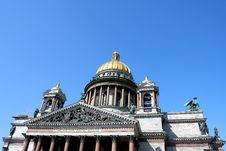 Cathedral Of Saint Isaak In St Petersburg Stock Images