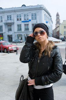 Free Girl In Dark Glasses Royalty Free Stock Photo - 4905575