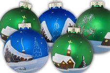 Free Christmas Balls Hand Painted Royalty Free Stock Photo - 4905925