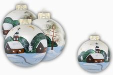Christmas Balls Hand Painted Royalty Free Stock Photography