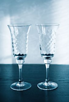 Free Two Glasses For A Sparkling Wine Stock Photo - 4906740
