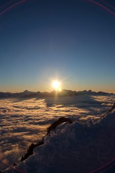 Free Alps At Sunset Royalty Free Stock Photo - 4907195