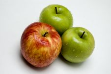 Three Apples Royalty Free Stock Photography