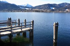Free Jetty At Mountain Lake Royalty Free Stock Photography - 4908357