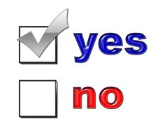 Free Yes No Vote Stock Photography - 4909082