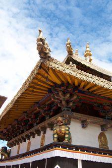 Free Eaves Of Kumbum Monastery Royalty Free Stock Photo - 4909355