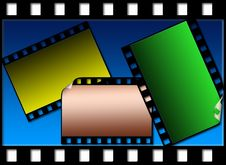 Free Colorized Film On The Same Background Royalty Free Stock Images - 4909389