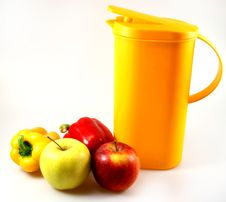 Free Carafe With Apples And Paprika Royalty Free Stock Image - 4909616