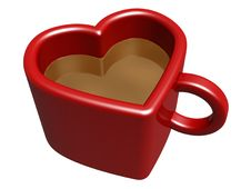 Free Heart Cup And Coffee Stock Images - 4909724