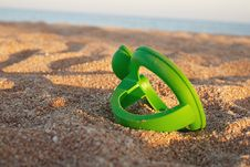 Toy On Sand Stock Photos