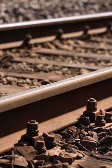 Free Train Tracks Royalty Free Stock Image - 4911206