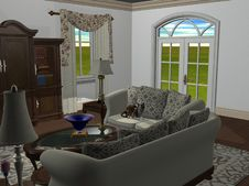 Free The Living Room Royalty Free Stock Image - 4911316