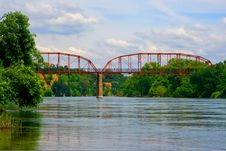 Free Old Bridge Over The River Stock Photography - 4911382