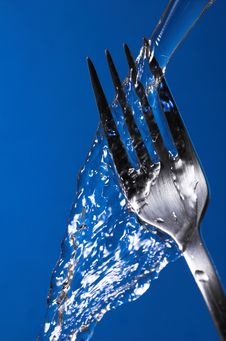 Free Fork Under Water Royalty Free Stock Photography - 4911387