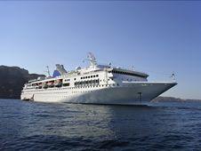 Cruiseship In Greece