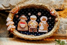 Free Gingerbread Figures Stock Images - 4911664
