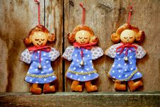 Three Dolls Royalty Free Stock Photos
