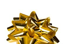 Free Macro Of Gold Bow Stock Photo - 4913240