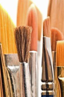 Free Paintbrushes Stock Photography - 4913682