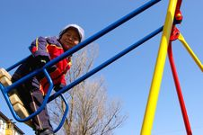 Free The Boy On Seesaw. Stock Photography - 4913902