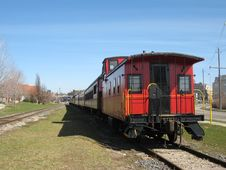 Red Train Royalty Free Stock Images
