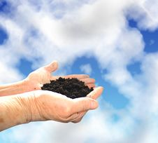 Free Soil In Hands Royalty Free Stock Image - 4914126