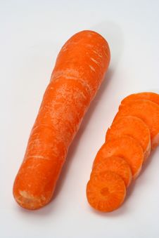 Free Group Of Carrot Isolated White Stock Photography - 4914812