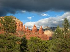 Free Sedona Red Rock Storm 66 Royalty Free Stock Images - 4914939