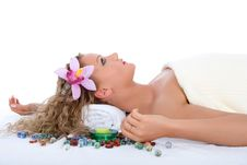 Free Attractive Woman Getting Spa Treatment Stock Photography - 4914972