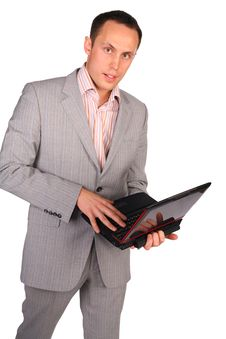 Free Businessman With Notebook Royalty Free Stock Image - 4915566