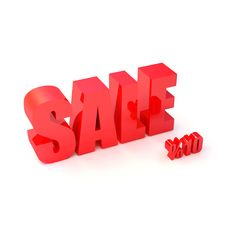 Free Red SALE Sign And Symbols Of Percent Royalty Free Stock Images - 4915869