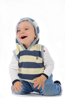 Free Kneeling Smiling Boy Royalty Free Stock Photography - 4915957