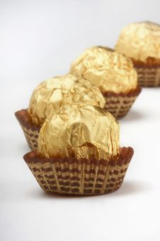Free Chocolate Truffles In Foil Wrap Stock Photo - 4915960