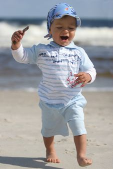 Free Young Boy On The Beach Stock Photo - 4916290