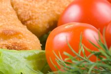 Free Chicken Nuggets With Vegetables Stock Photography - 4917442