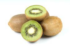 Kiwi Fruits Isolated On White Background Stock Images