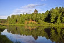 Free Blue Reflection In Lake At Forest Stock Photography - 4917892