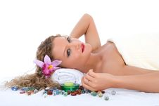 Free Attractive Woman Getting Spa Treatment Stock Image - 4918041