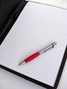 Free Pen And Notepad Stock Image - 4918141