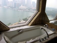 Singapore. Hotel Bathroom Royalty Free Stock Photography
