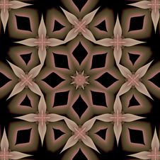 Hint Of Pink Petals Mandala Stock Photo