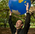 Free World In His Hands Royalty Free Stock Images - 4926279