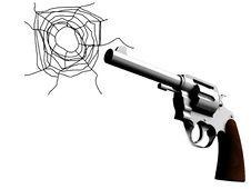 Gun With Bullet Hole