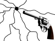 Free The Gun With Crack Stock Photos - 4920703