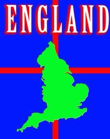 Free England Map Royalty Free Stock Image - 4920826