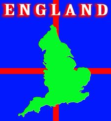 Free England Map Stock Photography - 4920842