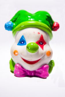 Free Clown Toy Head Front Royalty Free Stock Image - 4920866