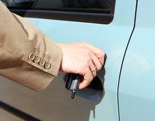 Free Men Hand Open Car Door Royalty Free Stock Image - 4920976