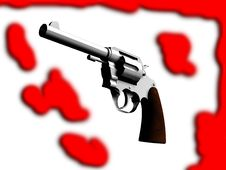 Free The Gun With Blood Stock Photo - 4921040